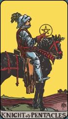 Ý Nghĩa Lá Bài Knight of Pentacles Trong Tarot 1