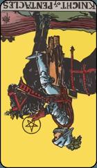 Diễn Giải Ngược của Lá Bài Knight of Pentacles 1
