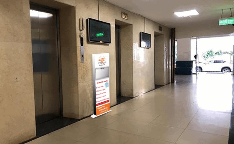 Máy rửa tay tự động đặt thang máy các tòa nhà